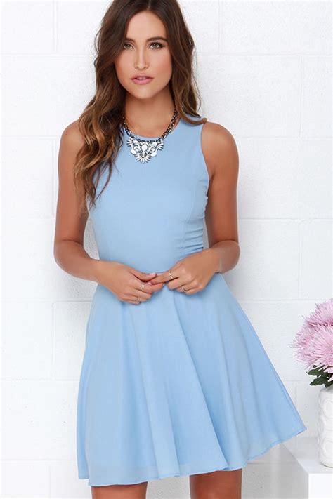 light blue casual dress light blue dress skater dress fit and flare dress 48 00