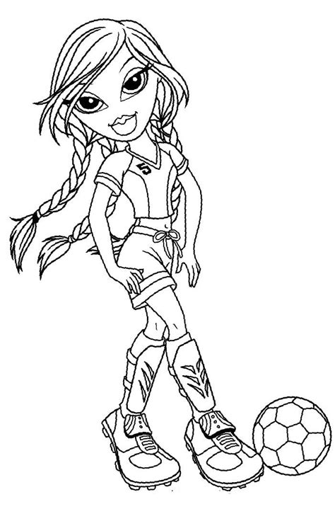 Kleurplaat Bratz by Jade Bratz Football Coloring Pages Bratz