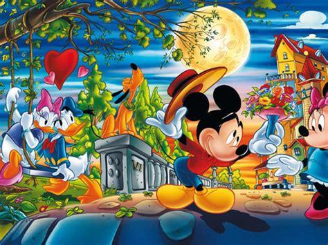 valentine day cartoons mickey  minnie mouse  donald