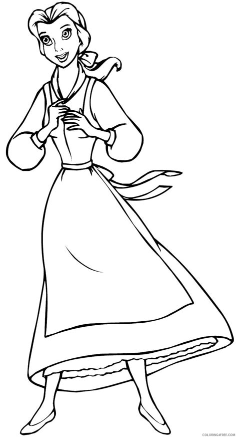 princess belle library pages  print coloring pages