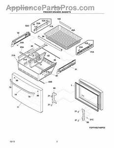 Parts For Frigidaire Ffhb2740pe0  Freezer Drawer  Baskets
