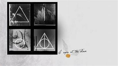 Deathly Hallows Potter Harry Quotes Symbol Wallpapers