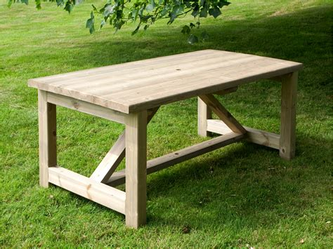 6 x 3 rectangular garden table walford timber