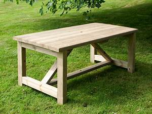 639 x 339 rectangular garden table walford timber for Gardening tables