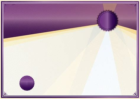 purple border pattern vector certificate background