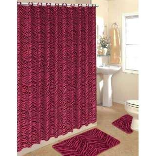 pink cheetah print bathroom set kansas jayhawks 12 pc set bathroom shower curtain hooks