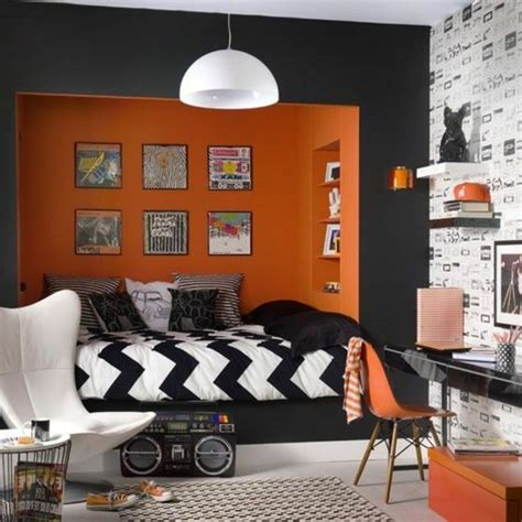 chambre ado garcon chambre orange ado design de maison