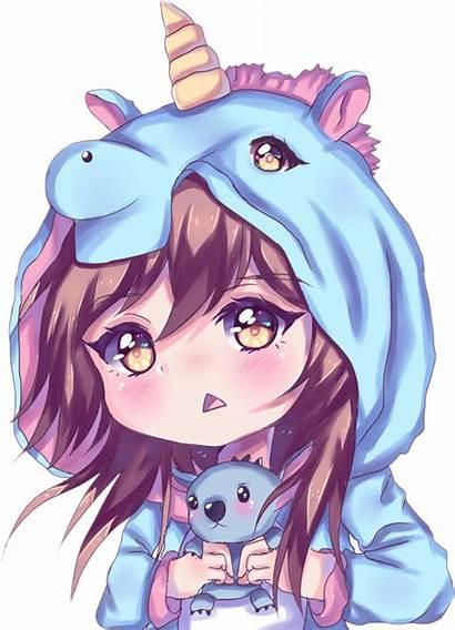 Unicorn Anime Pijama Girly Sticker Picsart