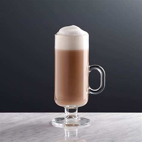 These coffee cups fit a generous helping of coffee while still leaving room for cream and sugar. Irish Coffee Mug + Reviews | Crate and Barrel