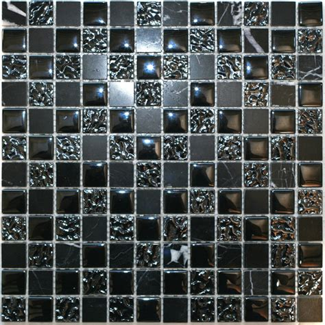 tiles bunnings decor8 tiles 300 x 300 x 8mm nero mix marble mosaic tile