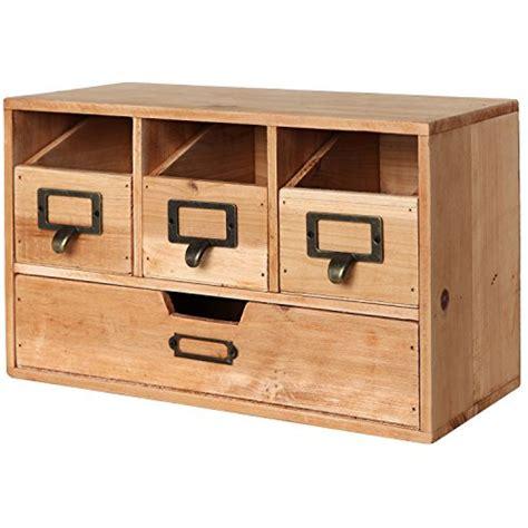 top of desk storage rustic desktop wooden office organizer drawers craft