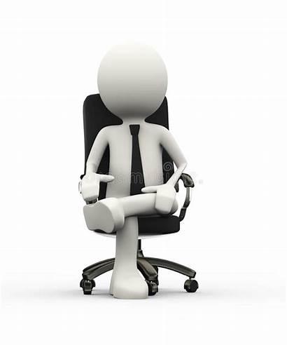 Sitting Chair Businessman Person 3d Business Illustration
