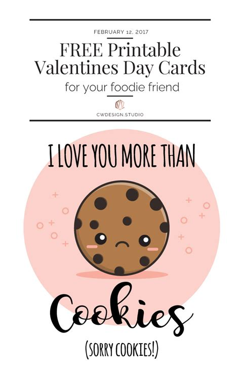 Free Printable Valentine's Day Cards - For Your Foodie Friends