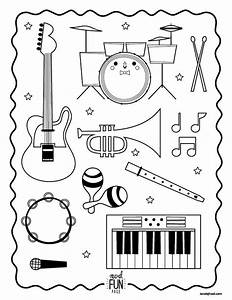 Nod Printable Coloring Page - Instruments for Musical ...