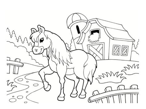 coloriage poney dessins  imprimer
