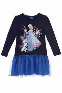 robe manches longues imprimee fille la reine des neiges 1499eur With superb bleu marine avec quelle couleur 1 robe bleu marine manches longues
