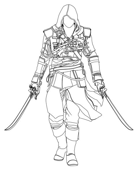 Assassins Creed 3 Free Coloring Pages