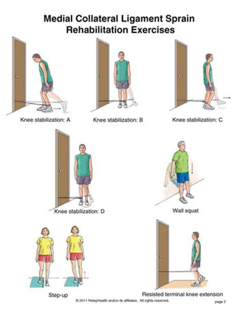 exle stretches grade ii mcl knee sprain