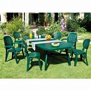 Salon De Jardin 6 Chaises Plastique Royal Sofa Ide De