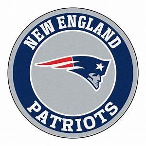"New England Patriots Logo Roundel Mat - 27"" Round Area Rug"