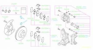 Subaru Impreza Disc Brake Abutment Clip  Pad Clip Brake