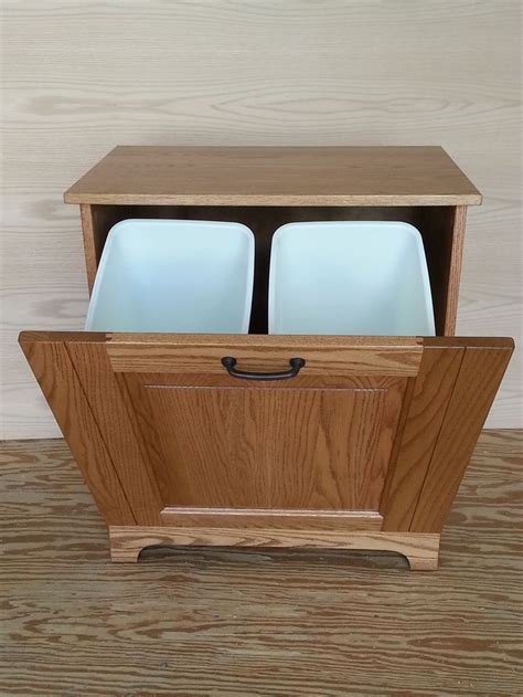 Wooden Tilt Trash Bin Plans   WoodWorking Projects & Plans