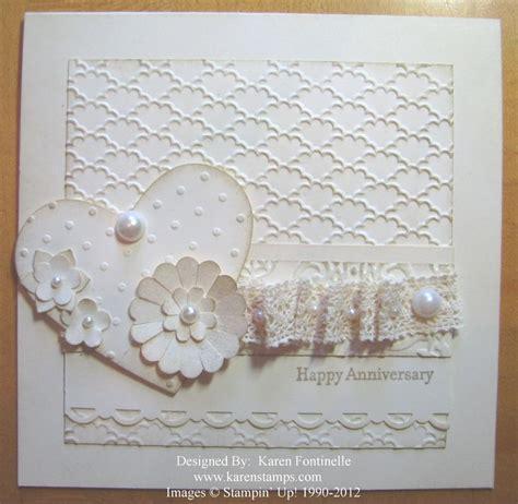 Make An Anniversary Or Wedding Card  Stamping With Karen