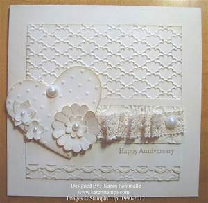 make an anniversary or wedding card stamping with karen With images of wedding cards to make