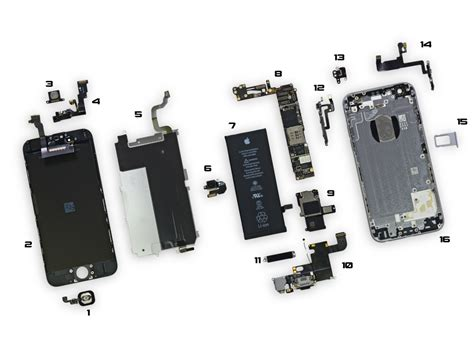 iphone 5s parts diagram iphone 6 parts diagram