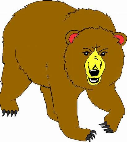 Bear Clipart Clip Cliparts Bears Grizzly Panda