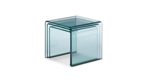 bureau en verre transparent table d 39 appoint gigogne noula en verre transparent