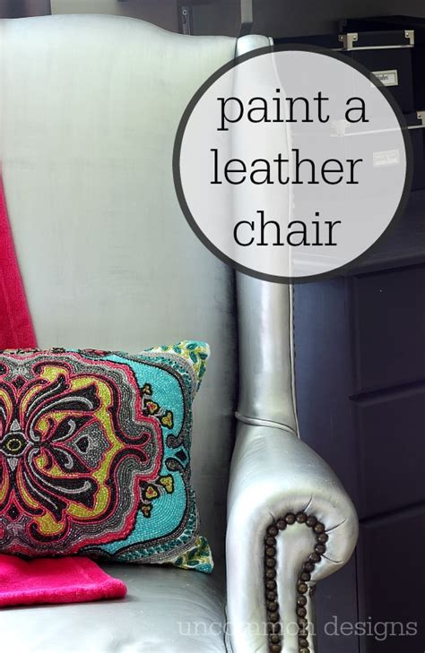 painting  leather chair    uncommon designs