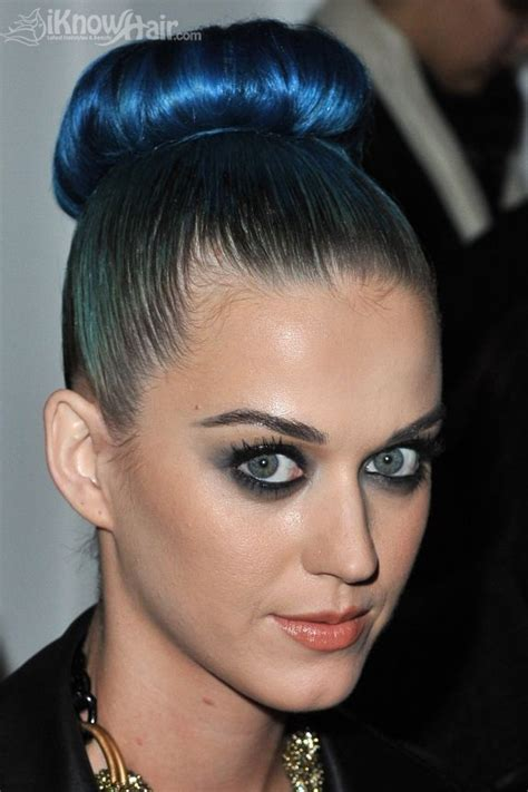 blue highlights hairstyles blue highlights  hair