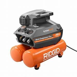Rafraichisseur D Air Electro Depot : ridgid 200 psi 4 5 gal electric quiet compressor ~ Dailycaller-alerts.com Idées de Décoration