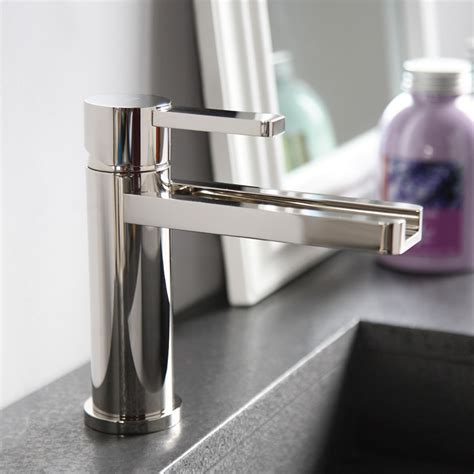 aqua polished nickel modern bathroom faucet