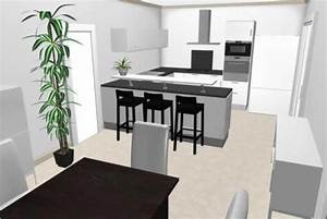 Plan De Cuisine 3d : implantation cuisine plan 3d le blog de seb ~ Nature-et-papiers.com Idées de Décoration