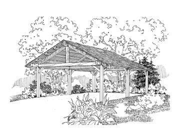 Carport Plans   2 Car Carport Plan Design # 051G 0048 at