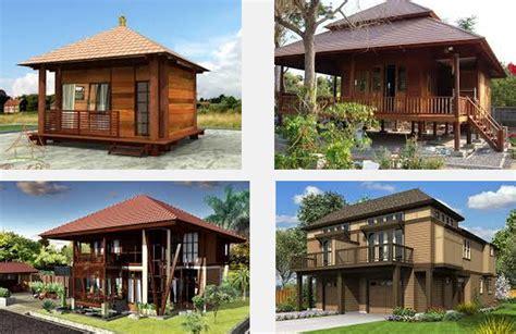 gambar  contoh foto desain model rumah kayu unik terbaru