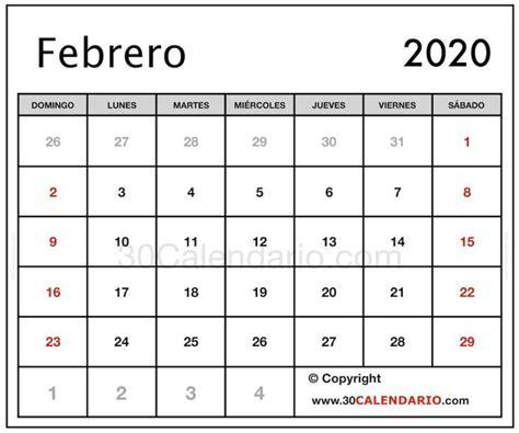 blanco calendario febrero feriados feriados