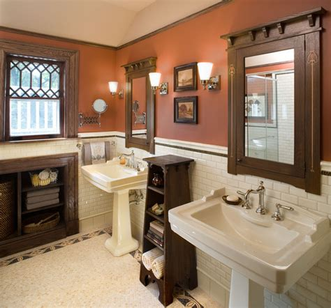 craftsman style bathroom ideas bathroom1 hill house craftsman bathroom york by carisa mahnken design guild