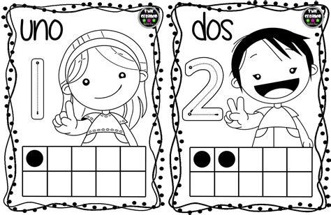 Tarjetas números para colorear (2) Imagenes Educativas