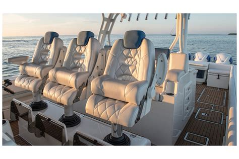 Lebroc Boat Chairs by Billfish With Single Needle Stitching