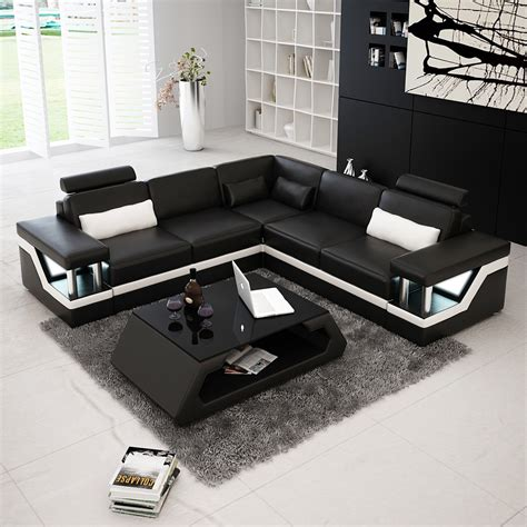 canapé d angle cuir center canapé d 39 angle design en cuir véritable tosca l lit
