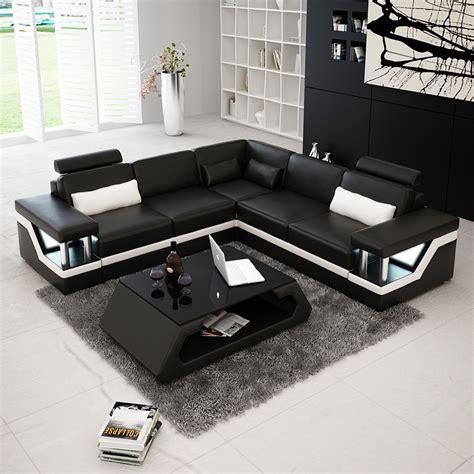 canapé d angle canapé d 39 angle design en cuir véritable tosca l lit