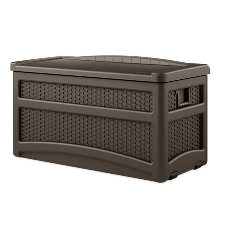 shop suncast 46 in l x 23 5 in w 73 gallon java brown