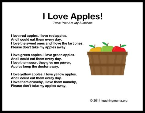10 autumn songs for preschoolers 723 | I Love Apples