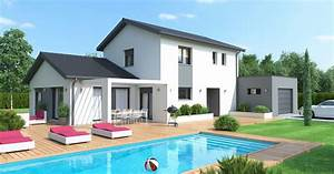 maison de type 3 volumes style contemporain maisons ideales With type de toiture maison 2 toit en thermotop