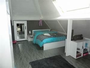 decoration chambre turquoise et gris With chambre turquoise et noir