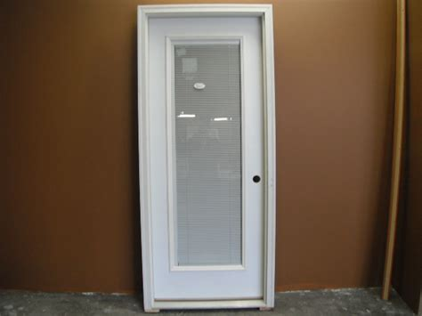 Full Lite Entry Door with Blinds : Tucks Discount Sales