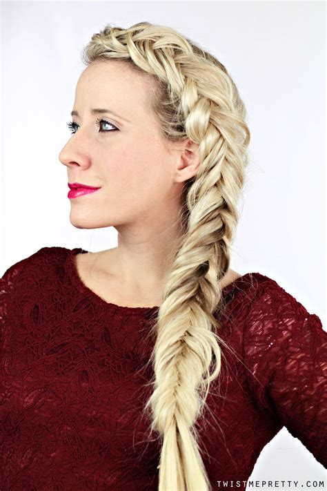 thick fishtail braid tutorial twist  pretty